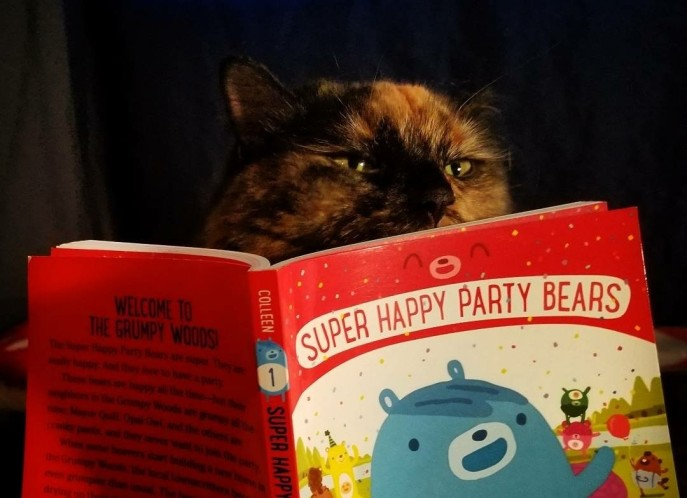 Hazel Reading Super Happy Party Bears.jpg